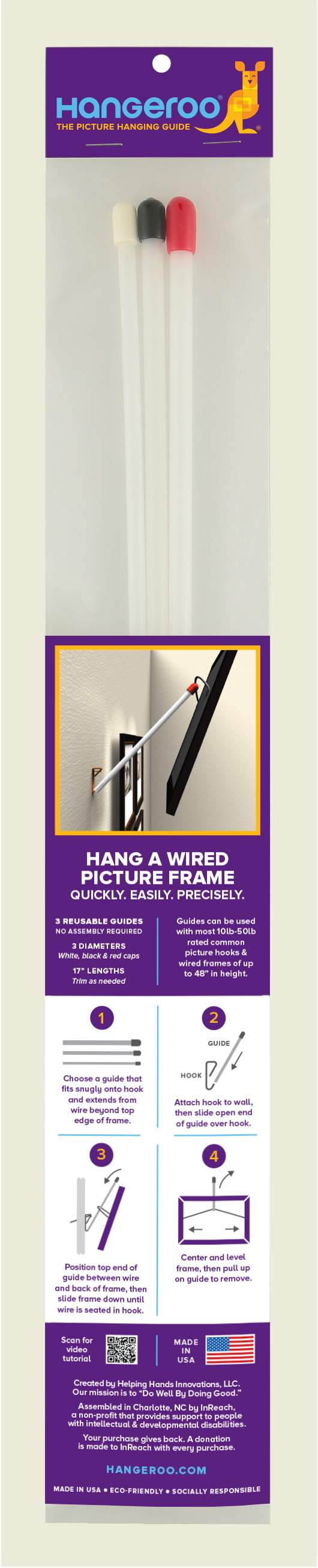 Home - Picture frame & mirror hanging tool.